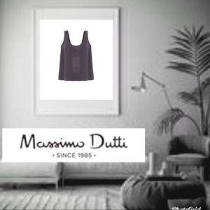 NEW MASSIMO DUTTI 100% SILK PRINTED CAMISOLE